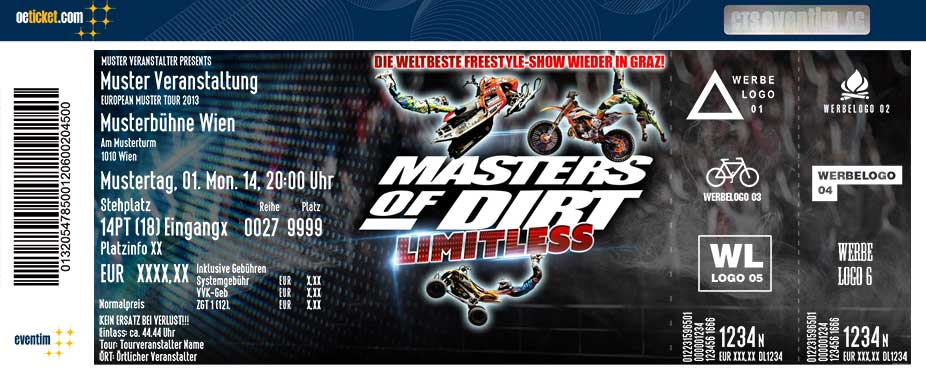 Masters of Dirt 2017 - Graz - Tickets