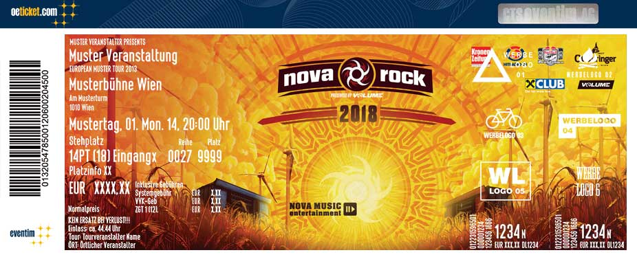 Nova Rock 2018 - Festivalpass - Tickets